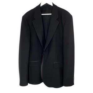Versace Jeans Couture Wool Jacket w/ Leather Trim